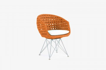 Amalfi Arm Child Chair - Orange