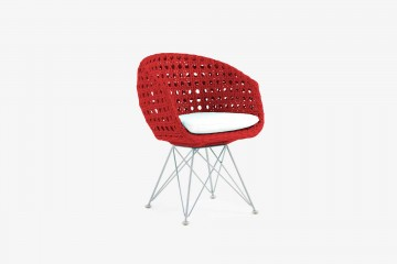 Amalfi Arm Child Chair - Red