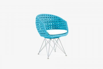Amalfi Arm Child Chair - Light Blue