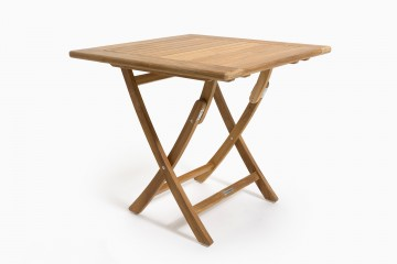 Perth Folding Table 80 x 80 cm - with Gaps