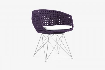 Amalfi Arm Chair - Dark Purple