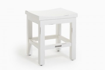 Bornholm Stool Curved Seat - Vintage White Wash