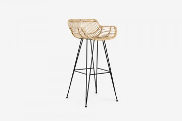 Hong Kong Bar Chair - MS / Rattan