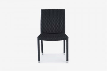 Paris Stacking Side Chair - Black -