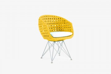 Amalfi Arm Child Chair - Yellow