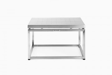 Firenze Cubic Side Table  with Perforated SS Top - 55 x 55 x H 33 cm