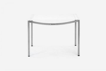 Firenze Lounge Ottoman in White