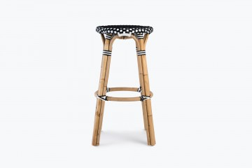 Parisian Bistro Bar Stool - Black / White
