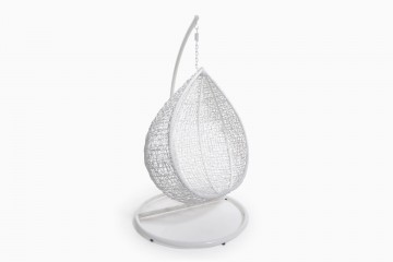 Corsica Birdnest Wicker Hanging Chair -White